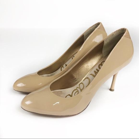 73c9076e8d4d Sam Edelman Camdyn Nude Patent Leather Heels. M 5b52c1a35098a00c05be25a8